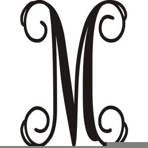 Free M Monogram Clipart.