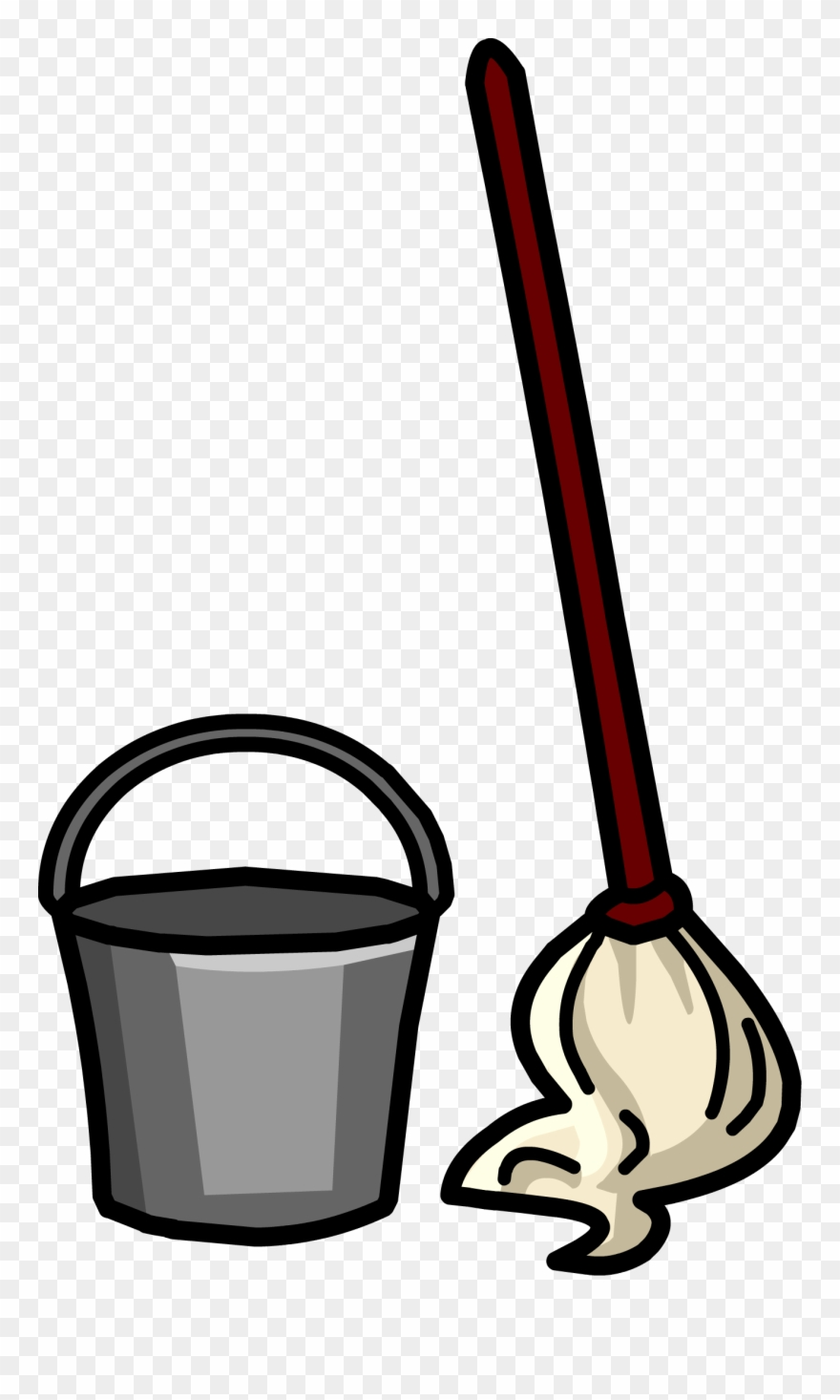Free Mop Clip Art Bucket Broom Pic.