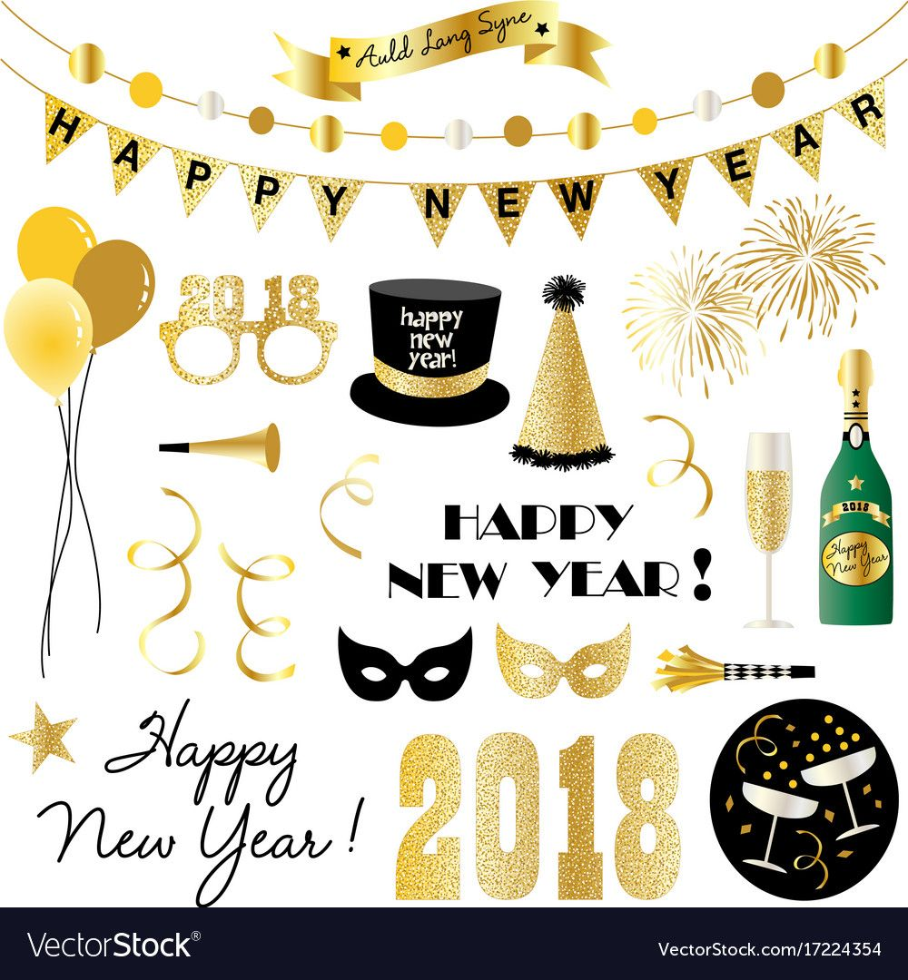 Happy New Year Eve Clipart.