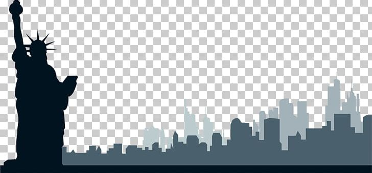 New York City Skyline PNG, Clipart, Black And White, Brand, Clip Art.