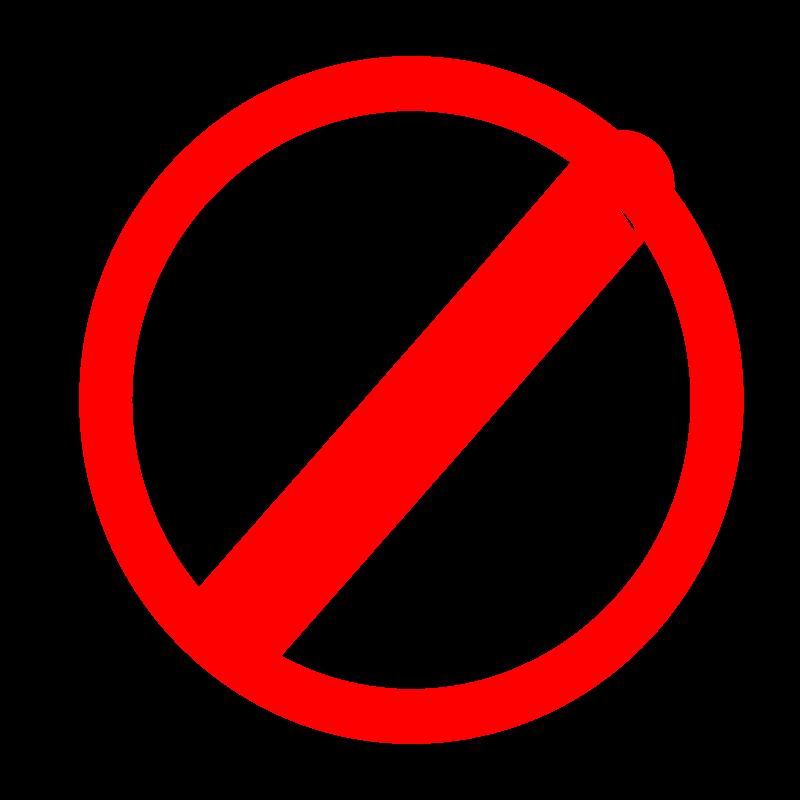 Free Clipart: No mark(sign).