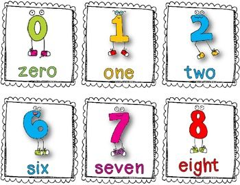 Here's a set of fun number posters/cards for the numbers 1.