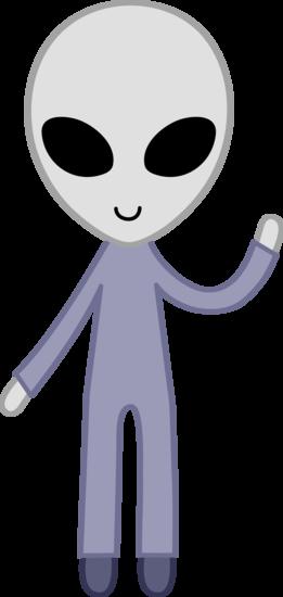 Free clip art of a cute friendly gray space alien.