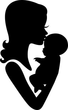Mother And Child Silhouette Clip Art Free #321656.