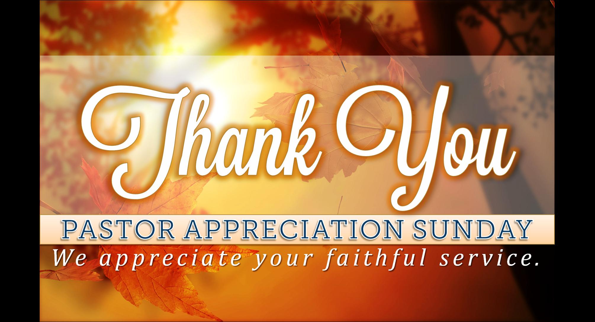 Slide for Pastor Appreciation Sunday.