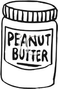 Black and White Jar of Peanut Butter.