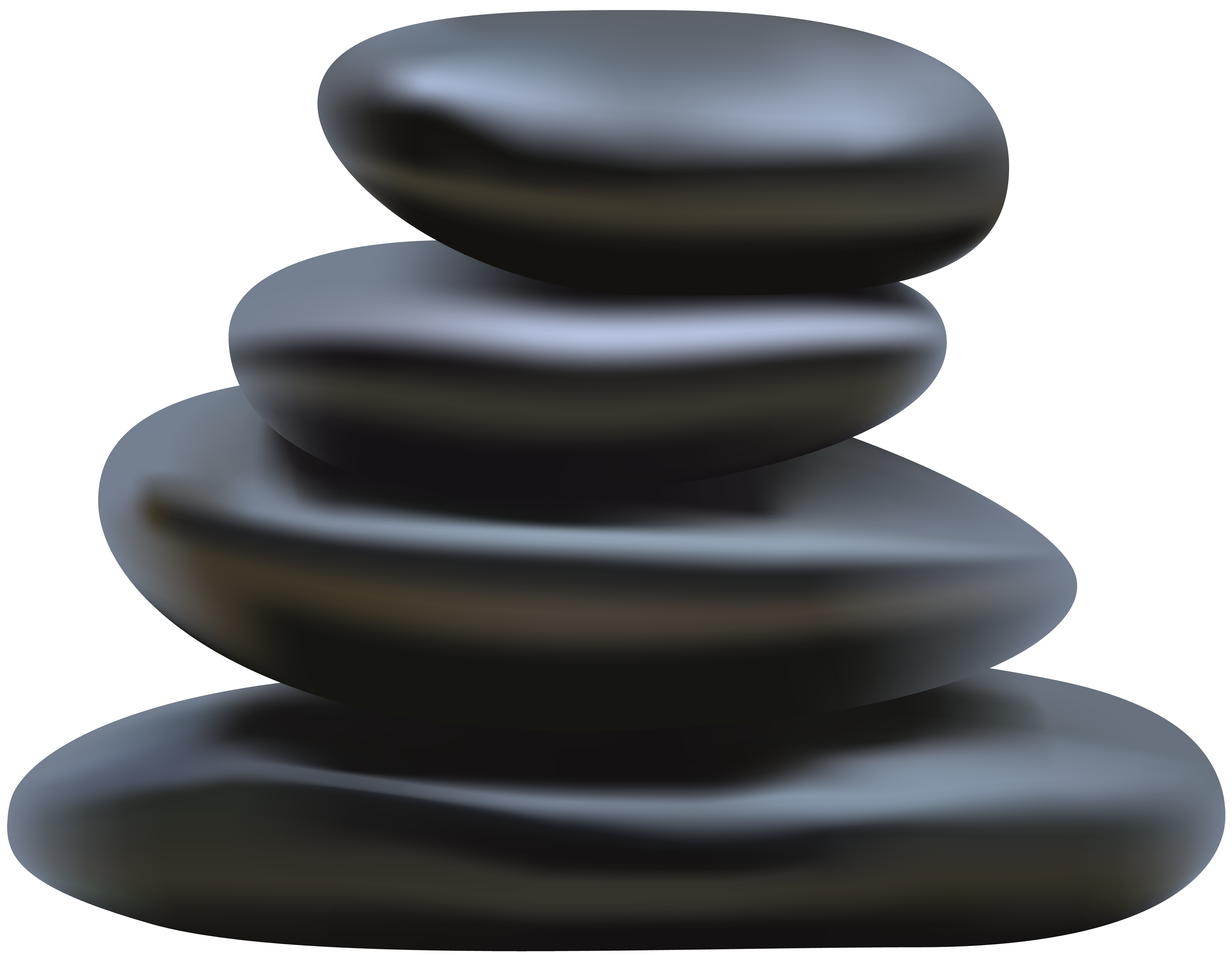 Spa Stones PNG Clip Art Image.
