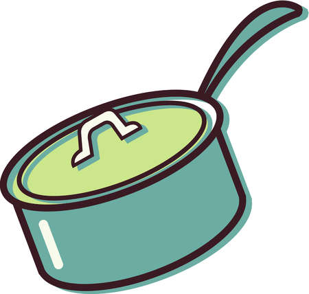 Cooking Pot Black And White Clipart.