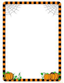 Cute Pumpkin Border Clipart.