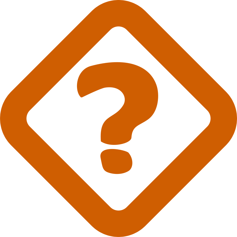 Free Clipart: Simple question sign.
