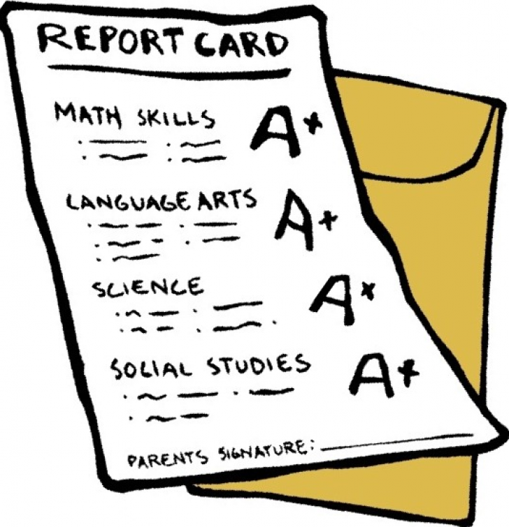 free clipart report card.