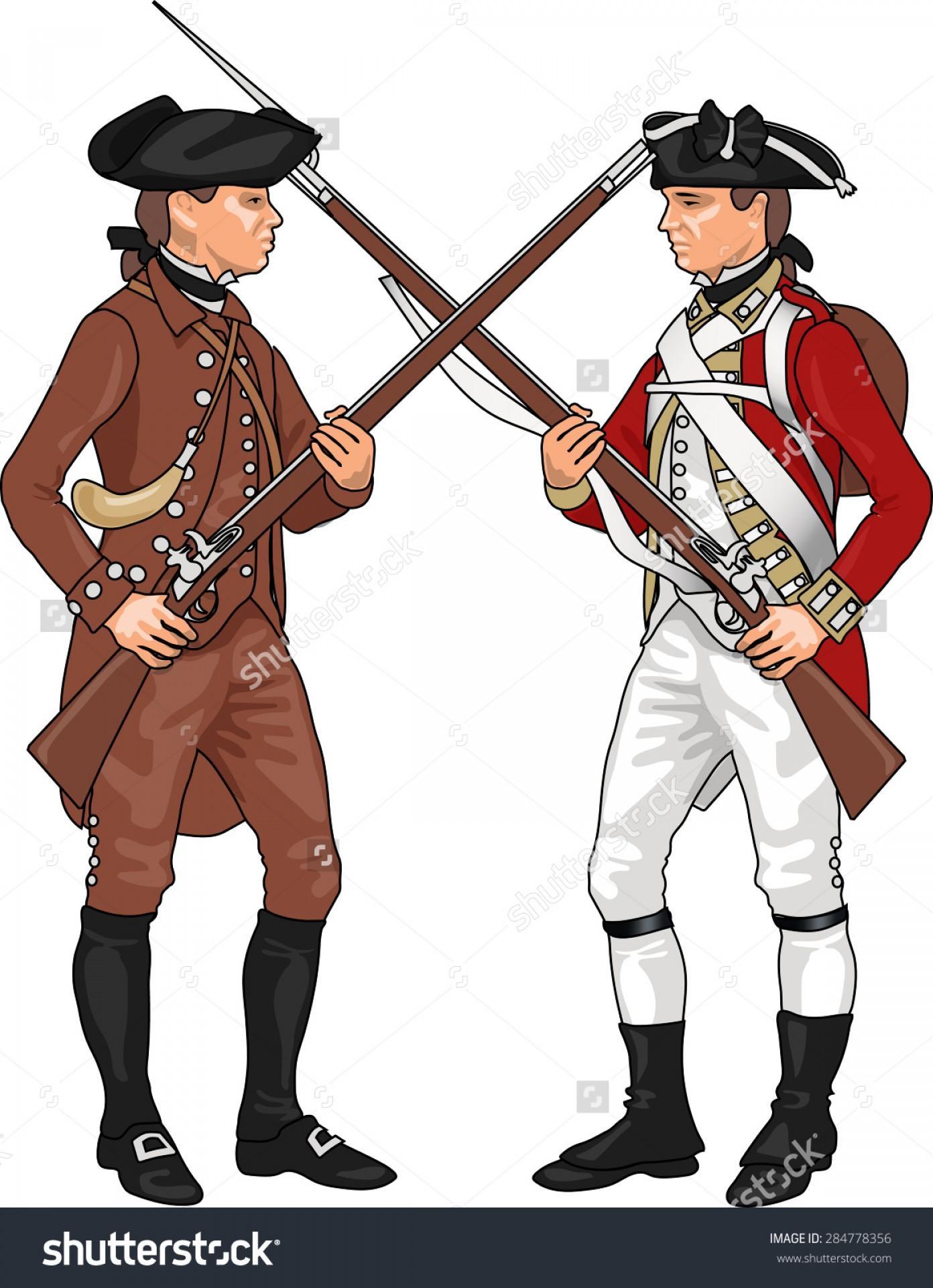 Best Free British Soldier Revolutionary War Clipart Image.