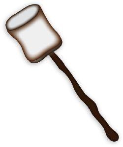 Roasted Marshmallow clip art.