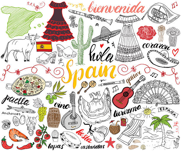 Best Spanish Culture Illustrations, Royalty.