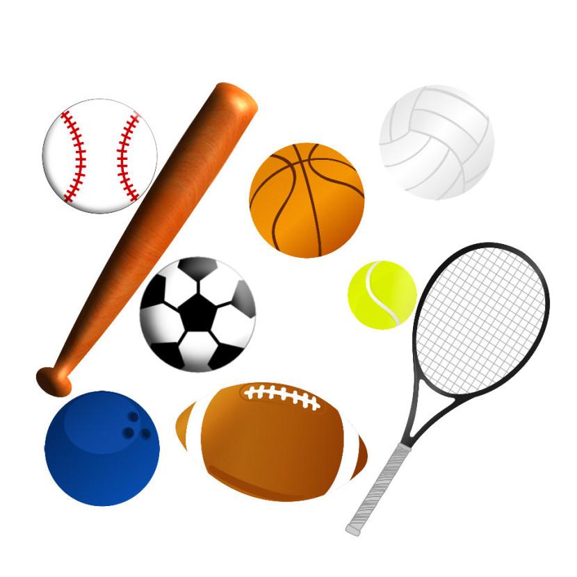 Sports Equipment Cliparts.