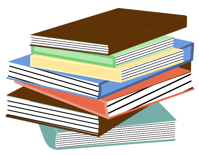 Free Clipart: Stack of books 01.