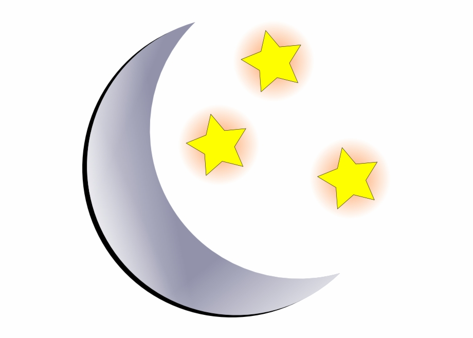 Black Stars And Moon Clipart Free Images.