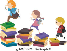 Stepping Stones Clip Art.