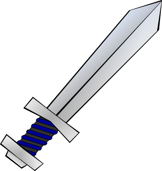 Sword clip art Free Vector / 4Vector.