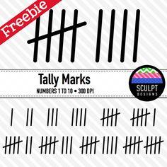 FREE Tally Marks Font.