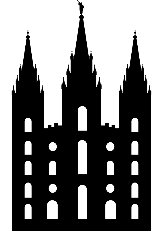 Free Clipart: Salt Lake Temple Silhouette.