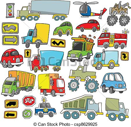 Transportation Vehicle Vector set.