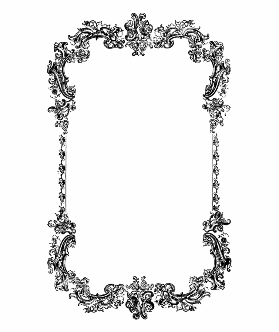 Victorian Borders And Frames Png Vector Clipart Psd.