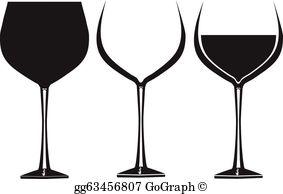 Wine Glasses Clip Art.