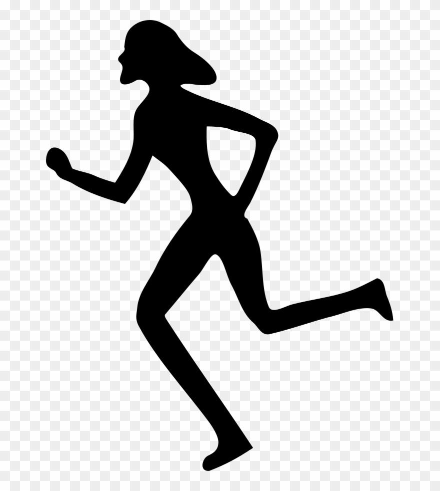 free clip art woman running #3