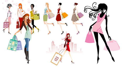 Free Clip Art Woman Shopping.