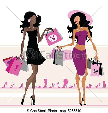 Women shopping Vector Clip Art Royalty Free. 19,931 Women shopping.