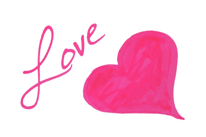 The Word Love Clipart.