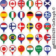 World Flags Clip Art.