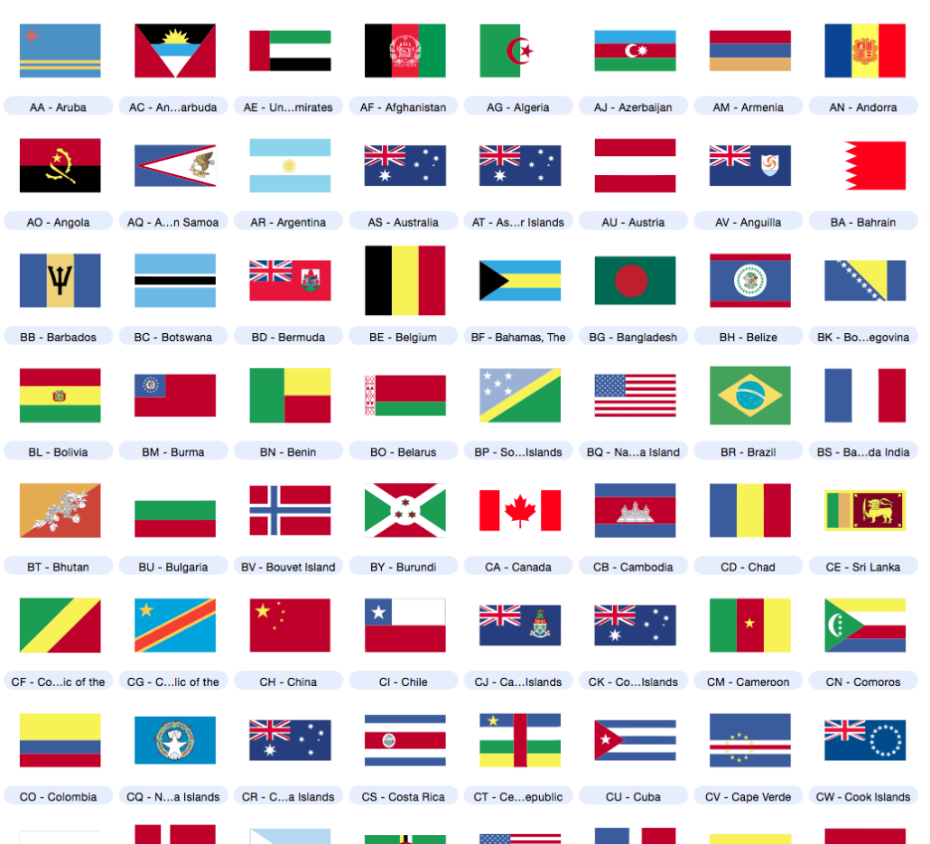vector country flag clip art (not editable) included with Artboard.