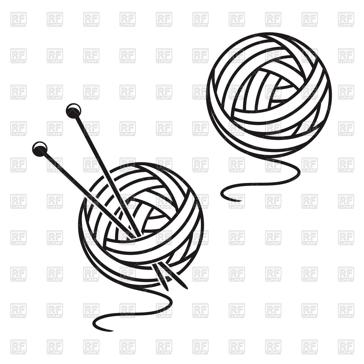 Set of balls of a yarn Stock Vector Image.
