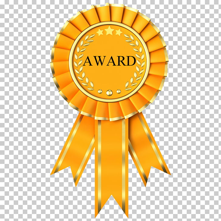 Award Trophy Rosette , Outstanding Performance s PNG clipart.