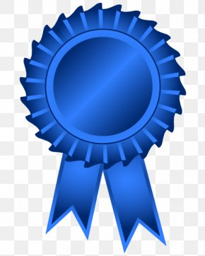 Blue Ribbon Medal Rosette Clip Art, PNG, 437x800px, Blue.