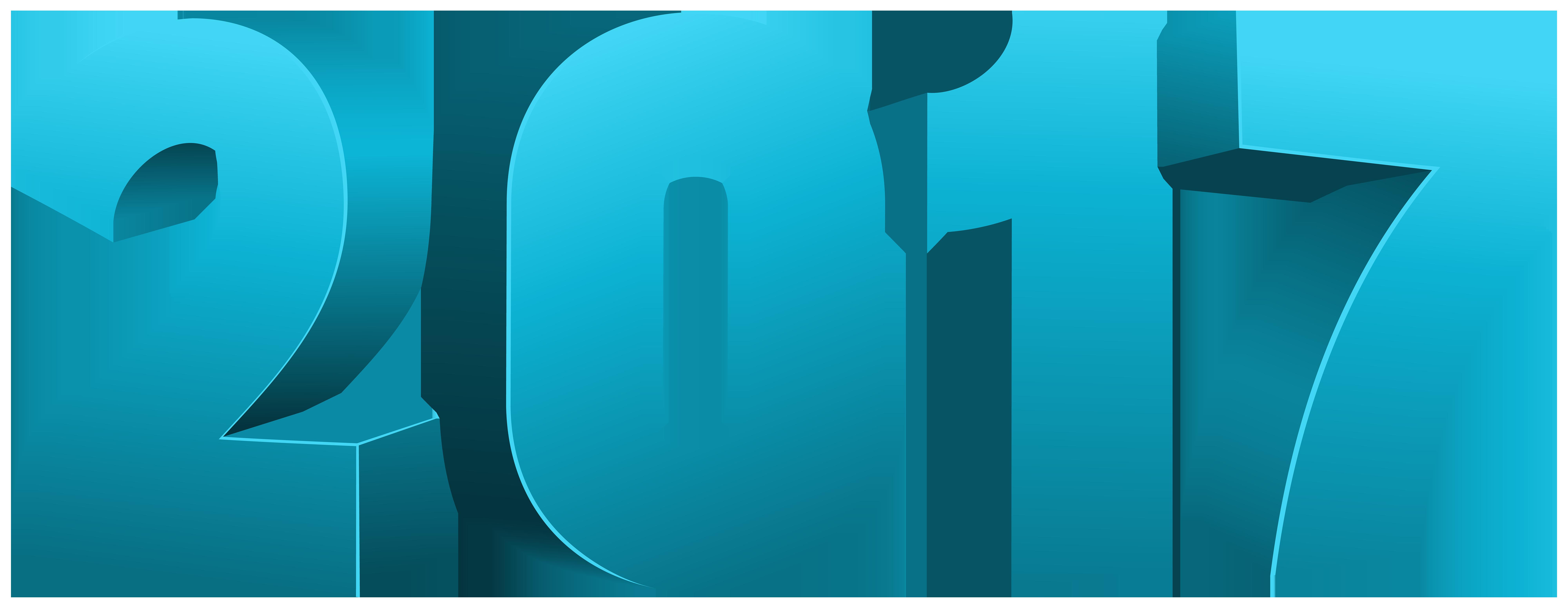 2017 Blue Large PNG Transparent Image.