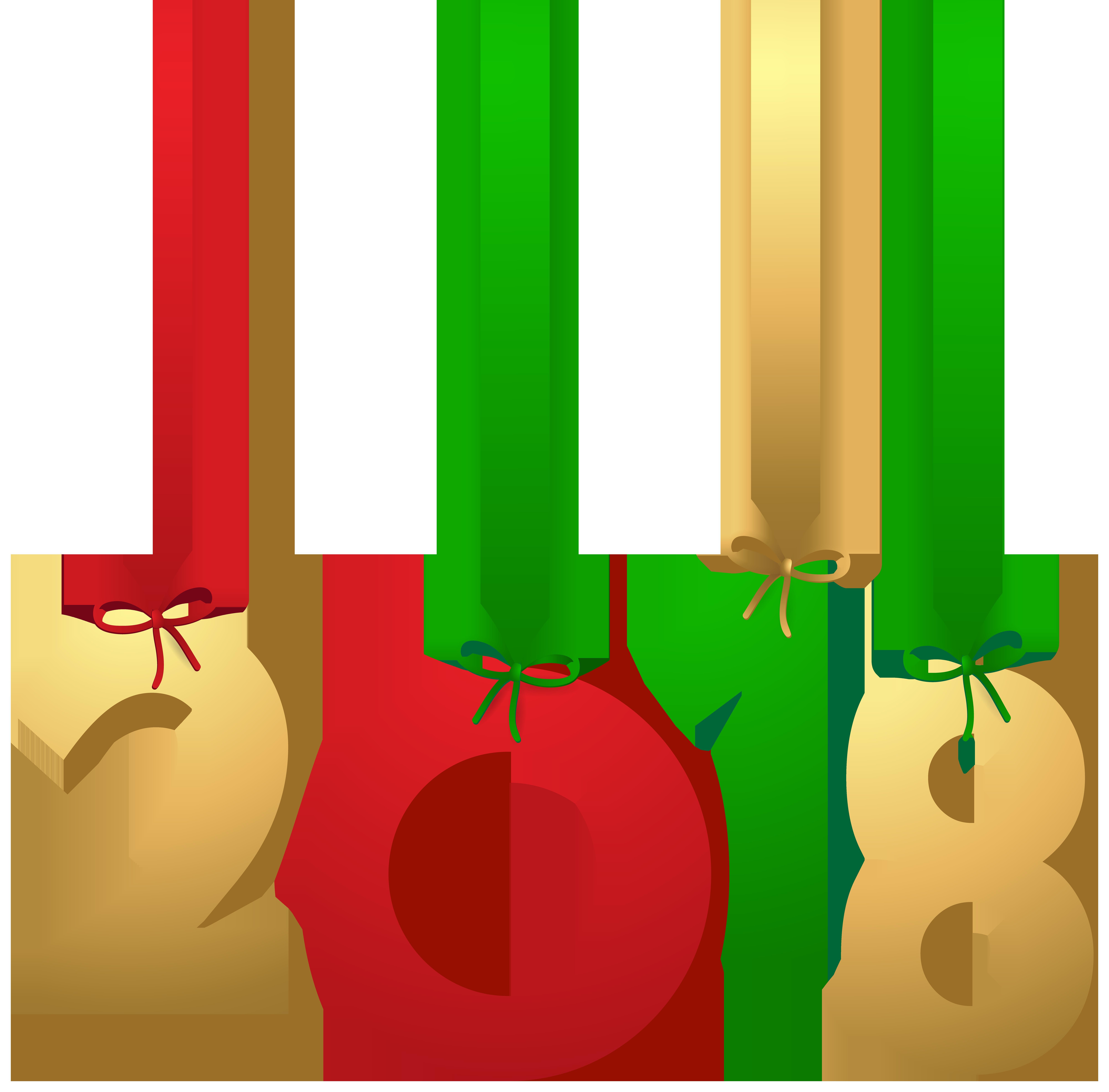 2018 Hanging Decoration PNG Clip Art Image.