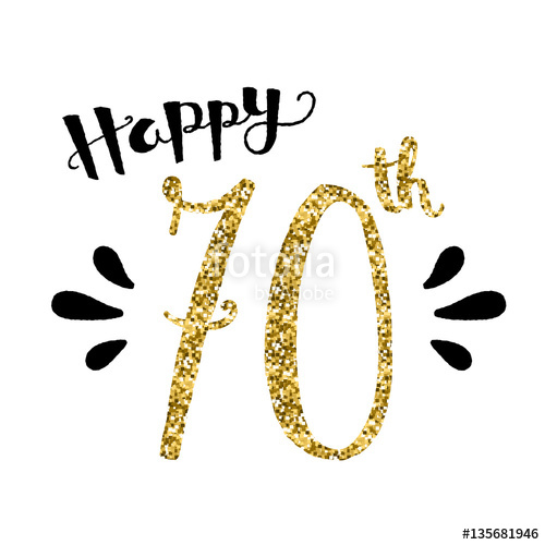 Download 70th birthday free vector clipart Birthday Greeting & Note.