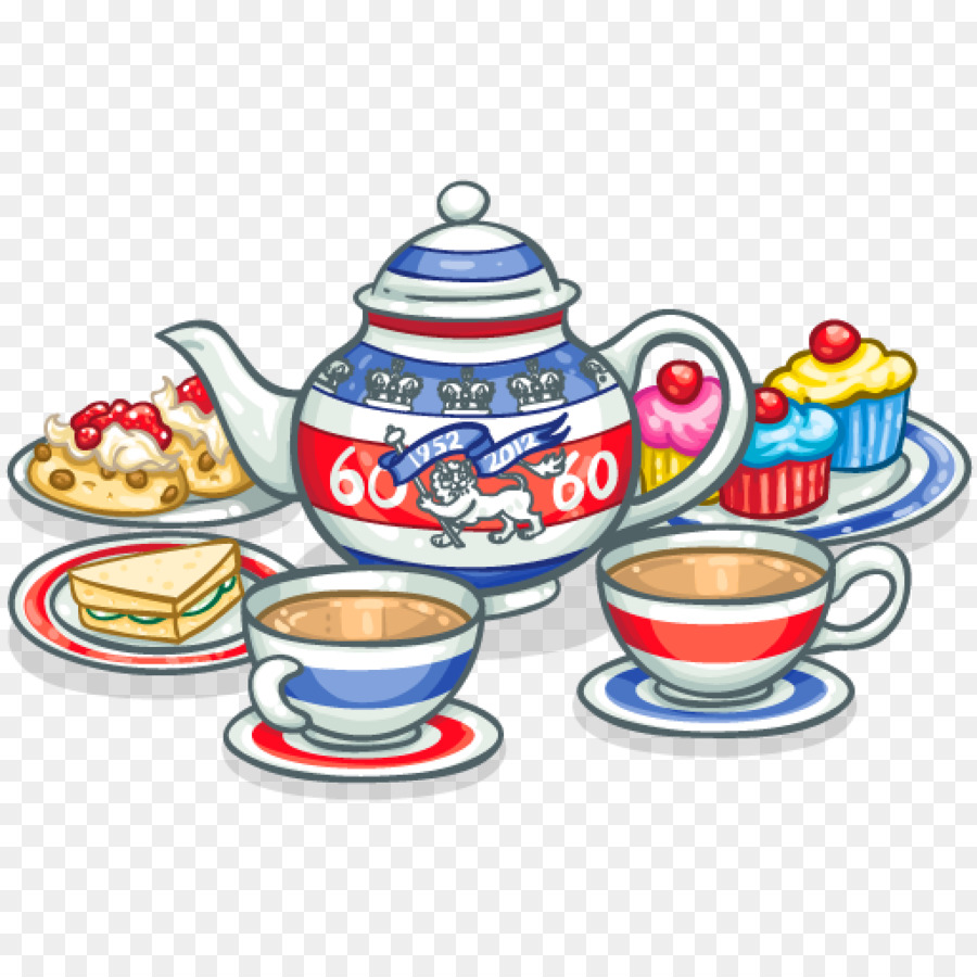 Download Free png Cream tea Coffee Scone Clip art afternoon tea png.