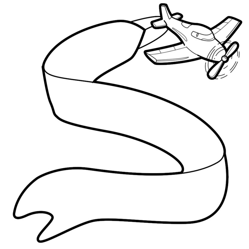 Airplane With Banner Clipart, Plane With Banner Free Clipart.