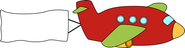 Free Clipart Airplane With Banner.