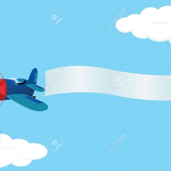 Plane Banner Clip Art, Plane With Banner Free Clipart.