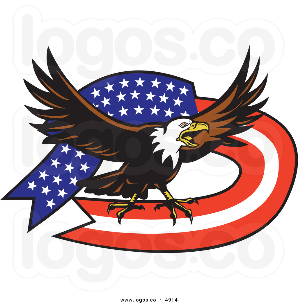 Free Clipart American Flag And Eagle.