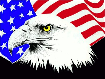 Free Clipart American Flag With Eagle.