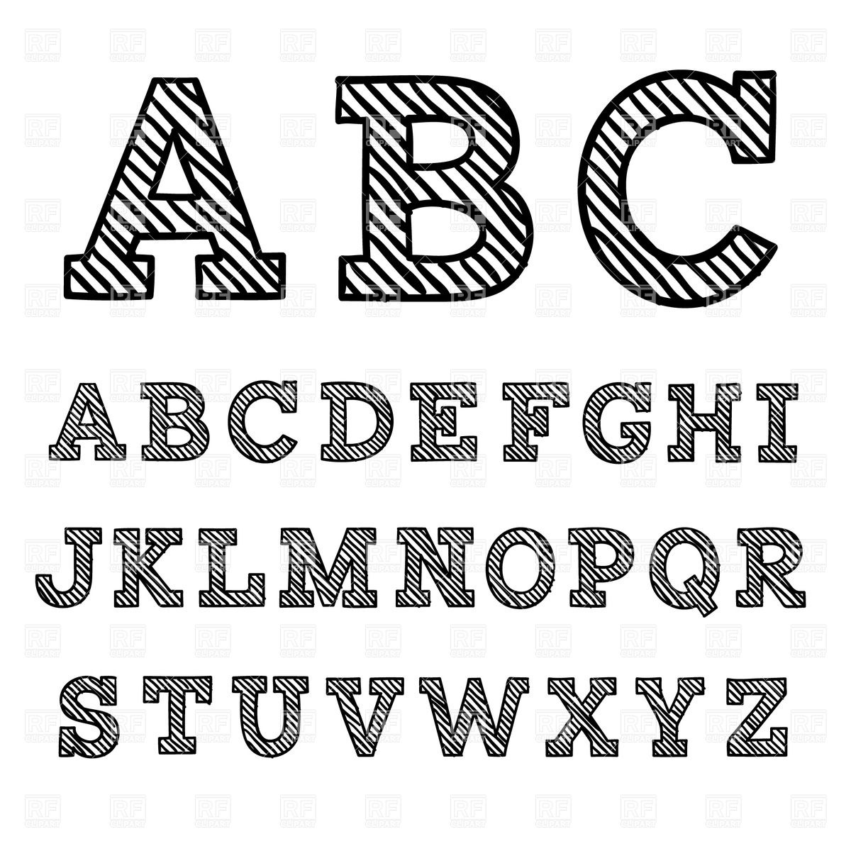 Free clipart fonts 1 » Clipart Station.