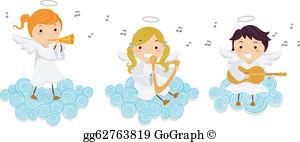Angels Singing Clip Art.