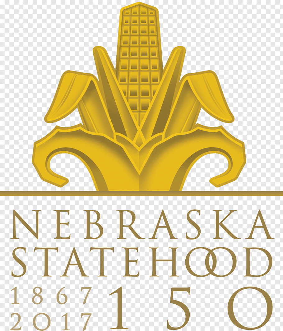 Gold Logo, Nebraska 150 Celebration, Omaha, Anniversary.