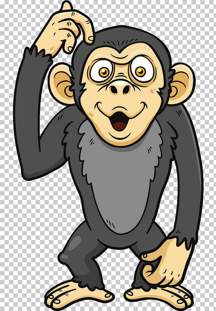 Chimpanzee Ape Primate , monkey PNG clipart.